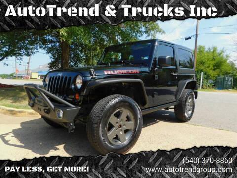 2011 Jeep Wrangler for sale at AutoTrend & Trucks Inc in Fredericksburg VA