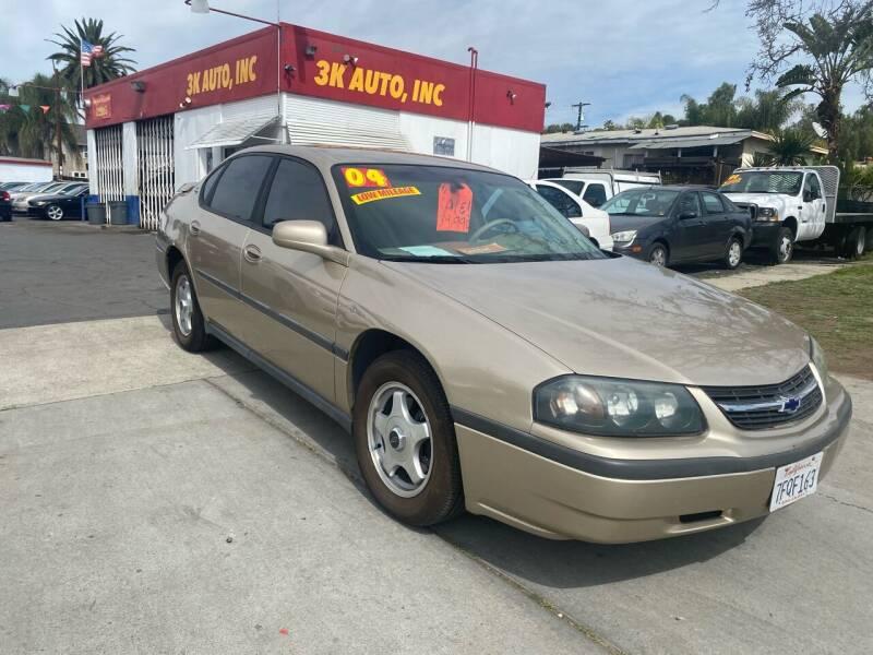 2004 Chevrolet Impala for sale at 3K Auto in Escondido CA