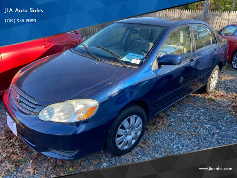 2003 Toyota Corolla for sale at JIA Auto Sales in Port Monmouth NJ