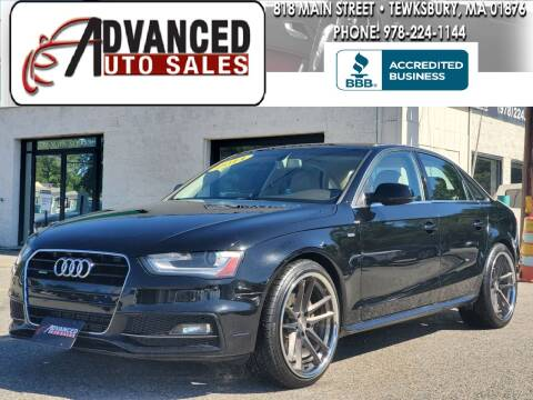 2014 Audi A4 for sale at Advanced Auto Sales in Dracut MA