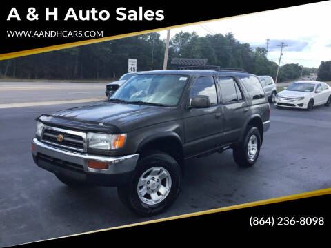 1998 Toyota 4Runner for sale at A & H Auto Sales in Greenville SC