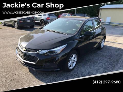 2018 Chevrolet Cruze for sale at Jackie's Car Shop in Emigsville PA