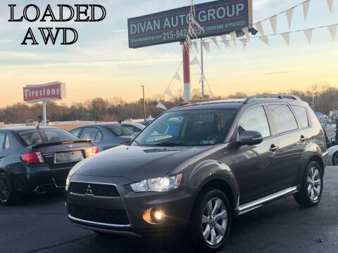 2010 Mitsubishi Outlander for sale at Divan Auto Group in Feasterville PA