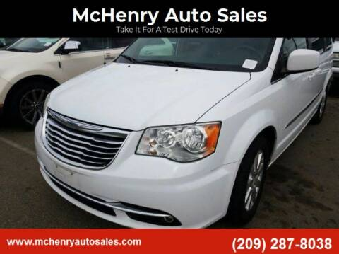 2015 Chrysler Town and Country for sale at McHenry Auto Sales in Modesto CA