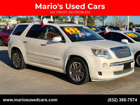 2011 GMC Acadia for sale at Mario's Used Cars in Houston TX