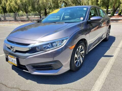 2018 Honda Civic for sale at ALL CREDIT AUTO SALES in San Jose CA