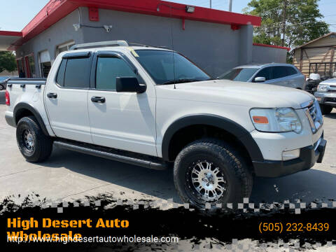 2008 Ford Explorer Sport Trac for sale at High Desert Auto Wholesale in Albuquerque NM