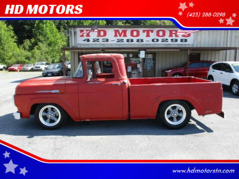 1960 Ford F-100 for sale at HD MOTORS in Kingsport TN