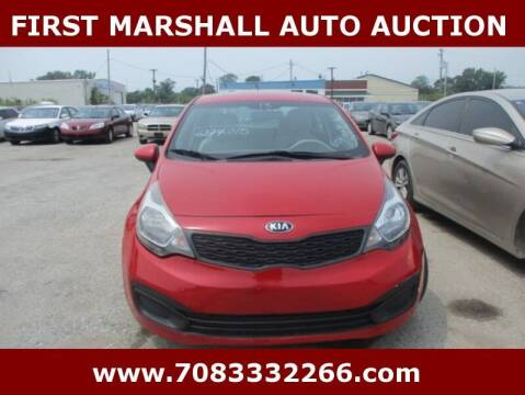 2013 Kia Rio for sale at First Marshall Auto Auction in Harvey IL