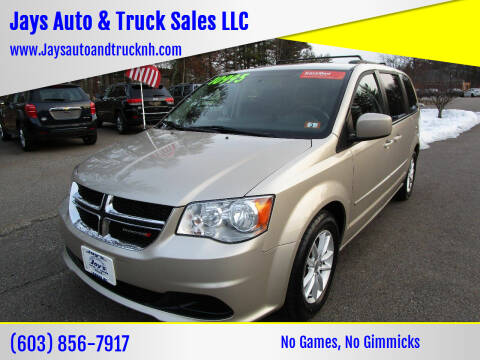 2016 Dodge Grand Caravan for sale at Jays Auto & Truck Sales LLC in Loudon NH