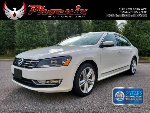 2013 Volkswagen Passat for sale at Phoenix Motors Inc in Raleigh NC