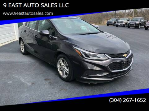 2016 Chevrolet Cruze for sale at 9 EAST AUTO SALES LLC in Martinsburg WV