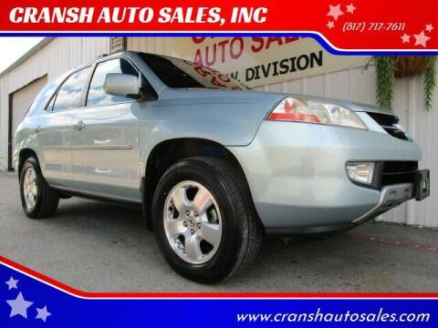 2003 Acura MDX for sale at CRANSH AUTO SALES, INC in Arlington TX