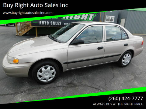 2002 Chevrolet Prizm for sale at Buy Right Auto Sales Inc in Fort Wayne IN