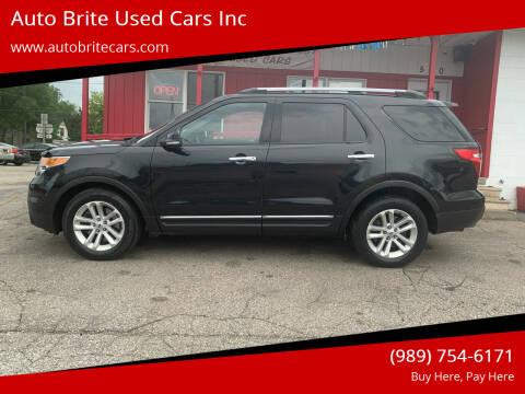 2013 Ford Explorer for sale at Auto Brite Used Cars Inc in Saginaw MI