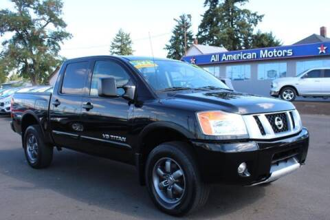 2014 Nissan Titan for sale at All American Motors in Tacoma WA
