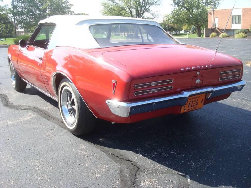 1968 Pontiac Firebird for sale at Naperville Auto Haus Classic Cars in Naperville IL