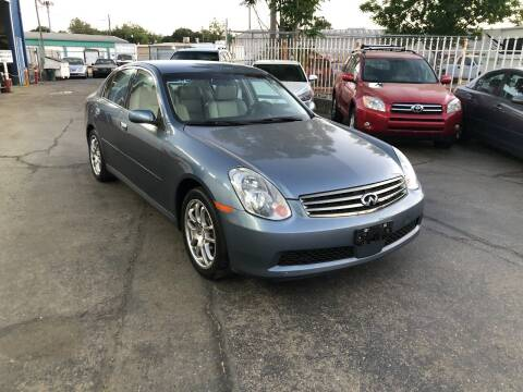2005 Infiniti G35 for sale at Fast Lane Motors in Turlock CA
