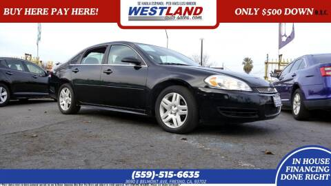 2012 Chevrolet Impala for sale at Westland Auto Sales on 7th in Fresno CA