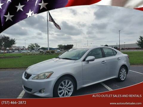 2006 Lexus IS 250 for sale at Auto Outlet Sales and Rentals in Norfolk VA