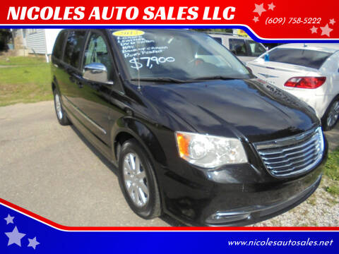 2012 Chrysler Town and Country for sale at NICOLES AUTO SALES LLC in Cream Ridge NJ
