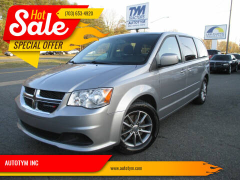 2016 Dodge Grand Caravan for sale at AUTOTYM INC in Fredericksburg VA