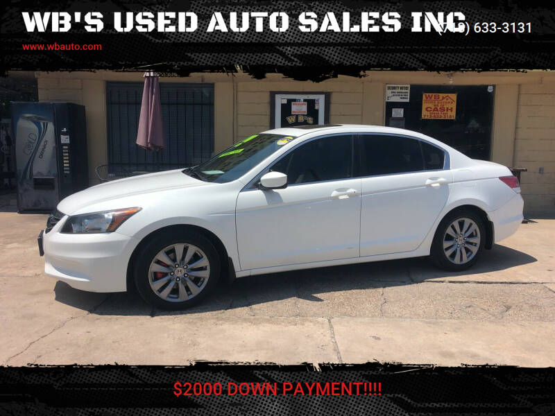 2011 Honda Accord for sale at WB'S USED AUTO SALES INC in Houston TX