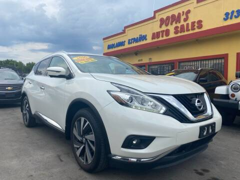 2016 Nissan Murano for sale at Popas Auto Sales in Detroit MI