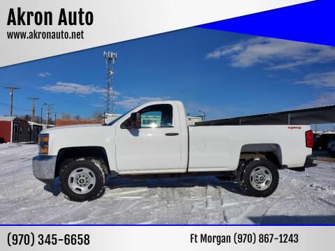 2015 Chevrolet Silverado 2500HD for sale at Akron Auto in Akron CO