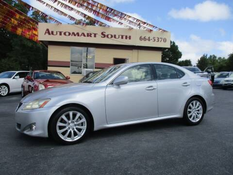 2008 Lexus IS 250 for sale at Automart South in Alabaster AL