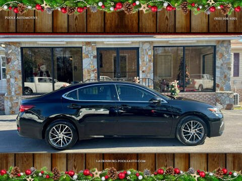 2018 Lexus ES 350 for sale at Poole Automotive in Laurinburg NC