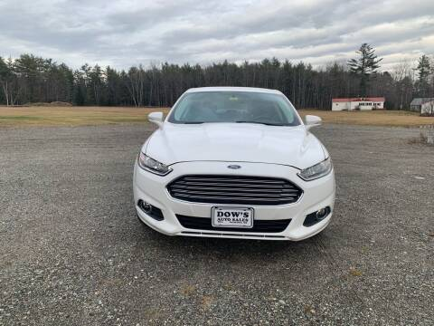 2014 Ford Fusion for sale at DOW'S AUTO SALES in Palmyra ME