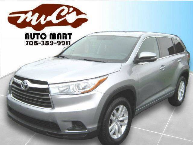 2015 Toyota Highlander for sale at Mr.C's AutoMart in Midlothian IL