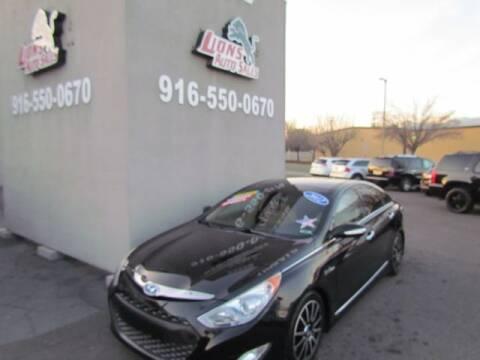2012 Hyundai Sonata Hybrid for sale at LIONS AUTO SALES in Sacramento CA