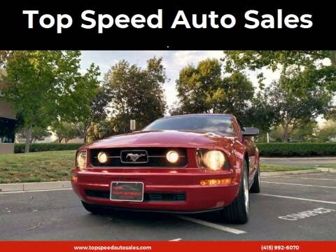 2008 Ford Mustang for sale at Top Speed Auto Sales in Fremont CA