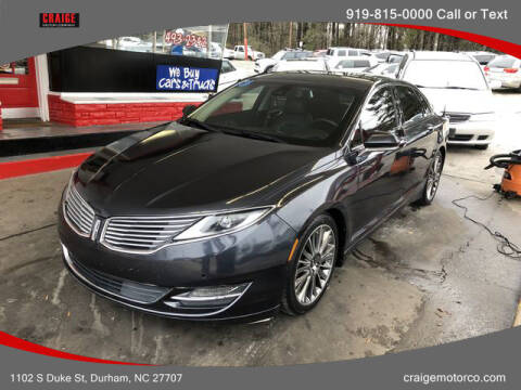 2013 Lincoln MKZ for sale at CRAIGE MOTOR CO in Durham NC