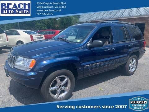 2001 Jeep Grand Cherokee for sale at Beach Auto Sales in Virginia Beach VA
