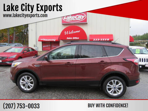 2018 Ford Escape for sale at Lake City Exports - Lewiston in Lewiston ME