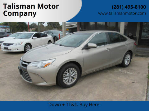 2016 Toyota Camry for sale at Talisman Motor Company in Houston TX