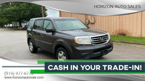 2012 Honda Pilot for sale at Horizon Auto Sales in Raleigh NC