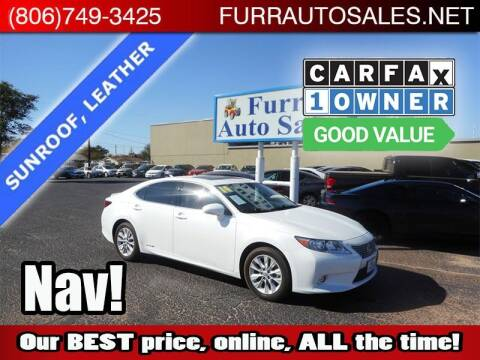 2014 Lexus ES 300h for sale at FURR AUTO SALES in Lubbock TX