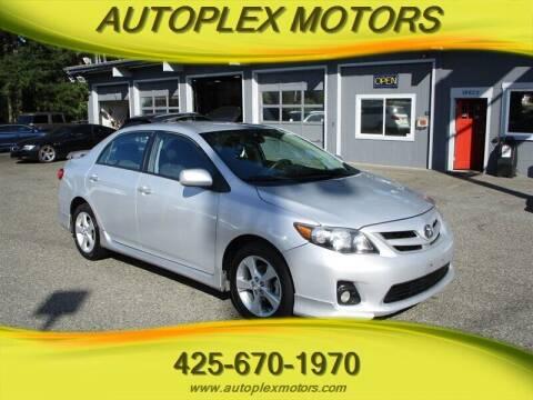 2013 Toyota Corolla for sale at Autoplex Motors in Lynnwood WA