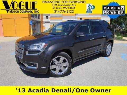 2013 GMC Acadia for sale at Vogue Motor Company Inc in Saint Louis MO