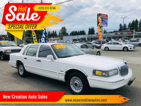 1997 Lincoln Town Car for sale at New Creation Auto Sales in Everett WA
