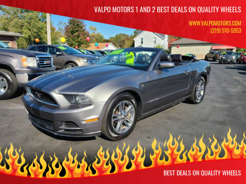 2013 Ford Mustang for sale at Valpo Motors 1 and 2  Best Deals On Quality Wheels in Valparaiso IN