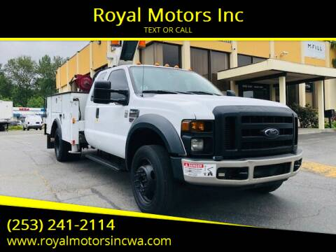 2009 Ford F-550 Super Duty for sale at Royal Motors Inc in Kent WA