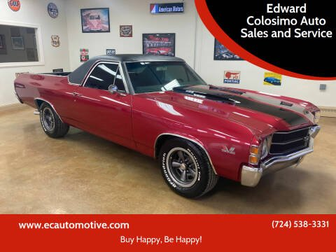 1971 Chevrolet El Camino for sale at Edward Colosimo Auto Sales and Service in Evans City PA