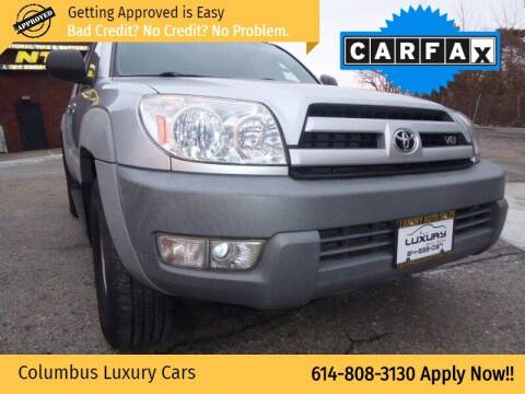 2003 Toyota 4Runner for sale at Columbus Luxury Cars in Columbus OH