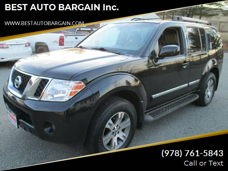 2012 Nissan Pathfinder for sale at BEST AUTO BARGAIN inc. in Lowell MA