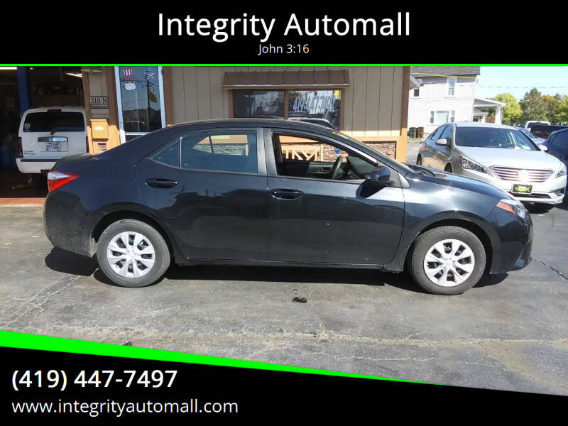 2015 Toyota Corolla for sale at Integrity Automall in Tiffin OH